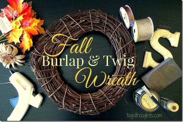 Fall Burlap & Twig Wreath by trishsutton.com