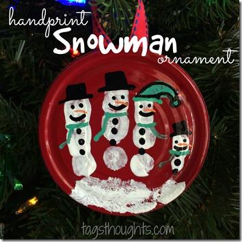 Handprint Snowman Ornament by trishsutton.com
