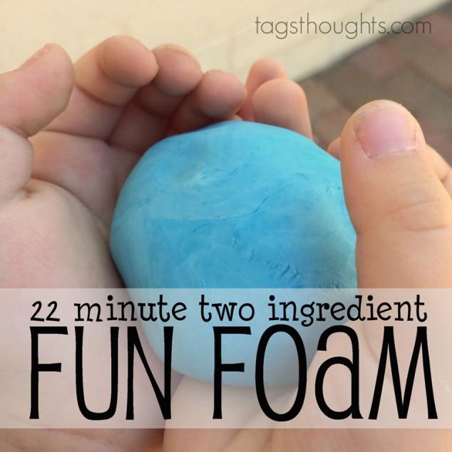 22 minute two ingredient Fun Foam for kids!