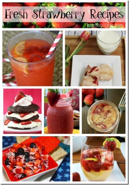 Fresh Strawberry Recipe Round-Up by trishsutton.com