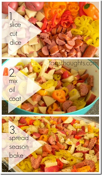Roasted Sausage, Potatoes & Peppers Recipe