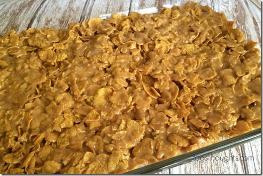 No Bake Peanut Butter Corn Flake No Bake Treats by trishsutton.com