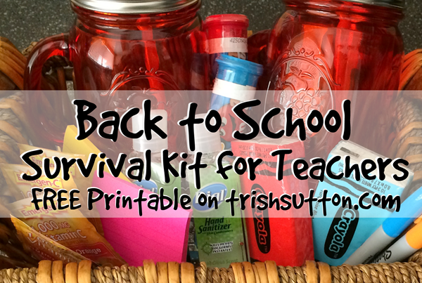 graphic relating to Teacher Survival Kit Printable titled Back again in direction of University Survival Package for Instructors; Absolutely free PRINTABLE