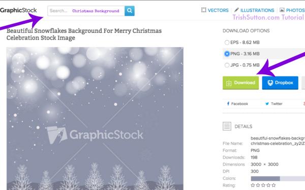 TrishSutton.com Tutorial for GraphicStock #GraphicStockChallenge