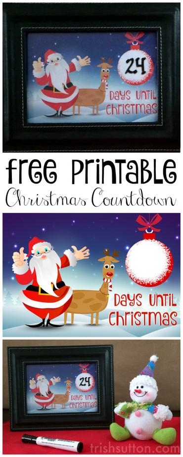 Christmas Countdown Free Printable, TrishSutton.com