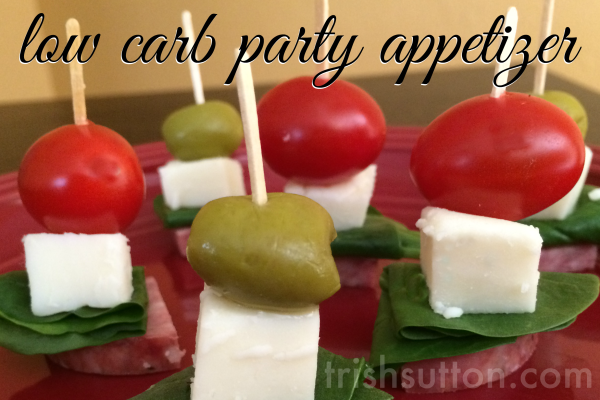 New Year's Eve Recipes; Low Carb Party Appetizer by TrishSutton.com