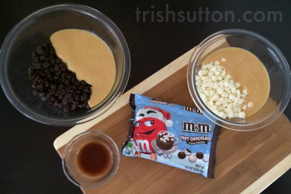 Ten Minute Hot Chocolate Fudge by TrishSutton.com, M&M's® Hot Chocolate