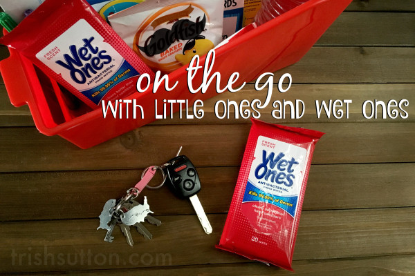 On The Go With Little Ones And Wet Ones; #GrabAWetOnes Kid's Travel Caddy by TrishSutton.com