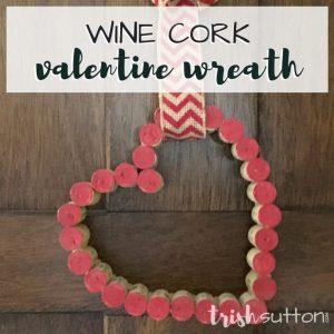 Wine Cork Valentine Heart Decor & Free Printable Pattern by TrishSutton.com
