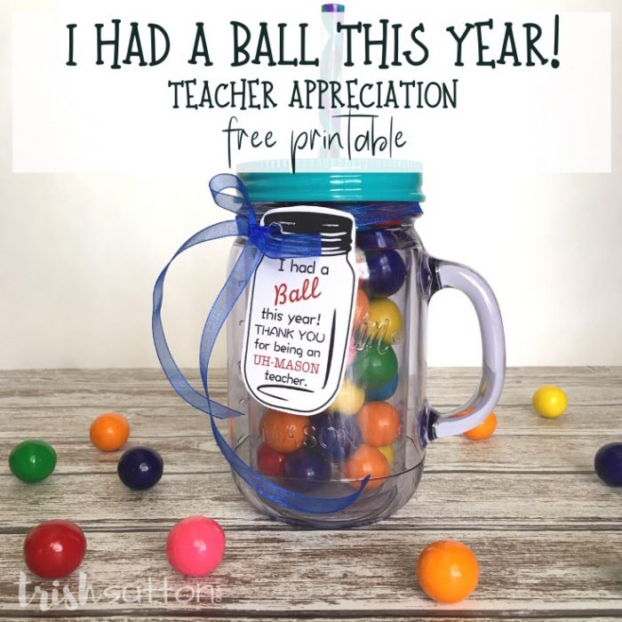 Free Printable: Teacher Appreciation Gift