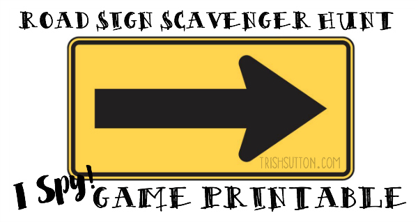 picture relating to Printable Road known as Street Indication Scavenger Hunt: I Spy Sport Printable