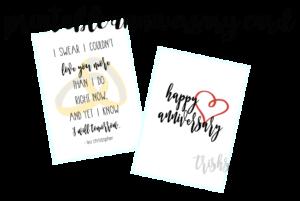 Love Quote By Leo Christopher; Printable Art + Anniversary Card. TrishSutton.com