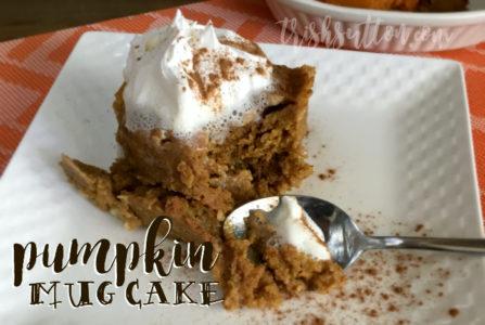 Simple Two Minute Pumpkin Mug Cake Recipe by Trish Sutton