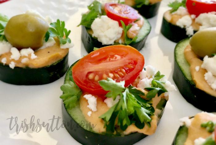 Simple Hummus Appetizer; Boar's Head Holiday Layered Greek Dip #ad #HolidayHummus TrishSutton.com