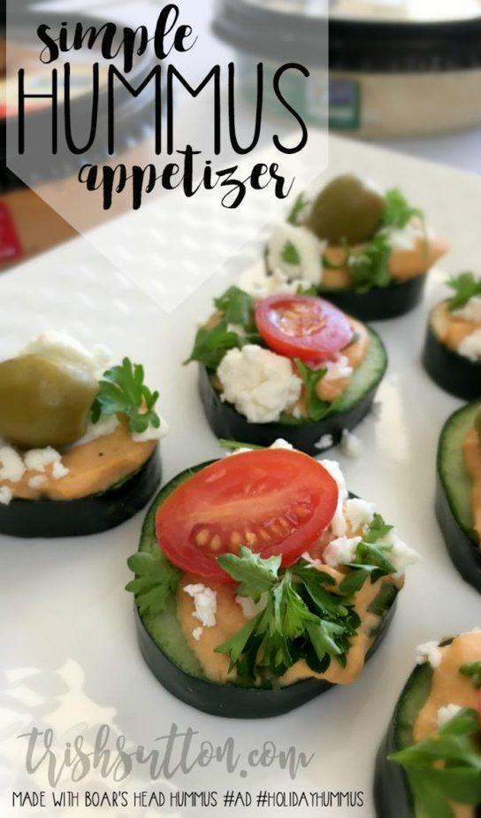 Simple Hummus Appetizer; Boar's Head Holiday #ad #HolidayHummus TrishSutton.com