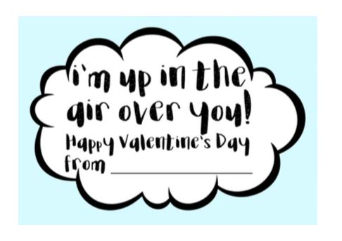 Airplane Valentine With Free Printable; Non Candy Kids Valentine TrishSutton.com