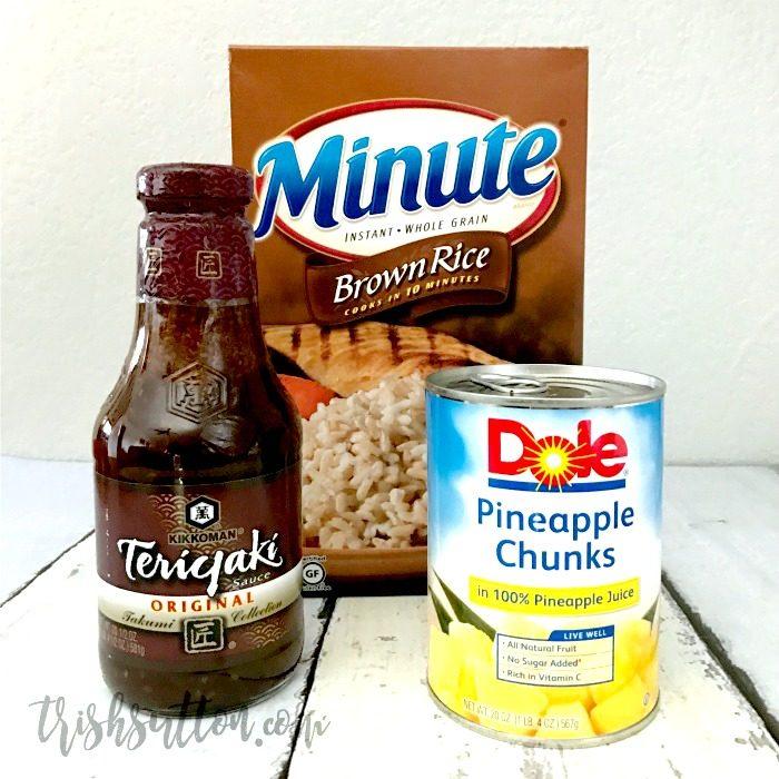 Pineapple Teriyaki Chicken With Brown Rice Crock Pot Recipe   TrishSutton.com