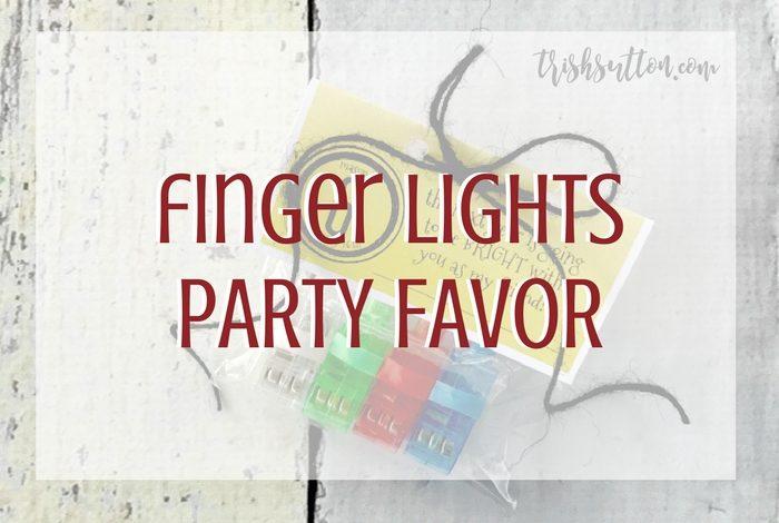 Light Up Birthday Party Favor - Finger Lights, TrishSutton.com