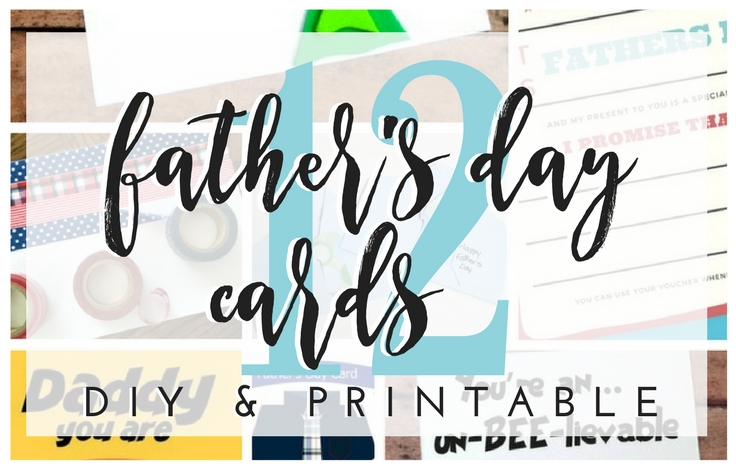 12 DIY & printable cards for Dad from neckties to superheroes! Father's Day Cards : DIY And Printable Greetings For Dad. TrishSutton.com