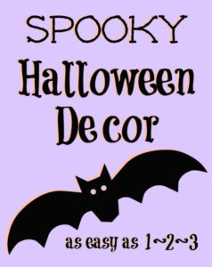 Spooky Halloween Decor Bats Free Printable; TrishSutton.com