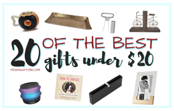 $20 gift guide; 20 of the best gifts under $20. trishsutton.com