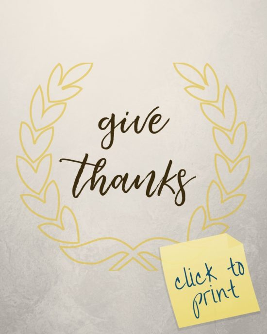 Thankful Thirty; Three Free Frameable Prints; TrishSutton.com