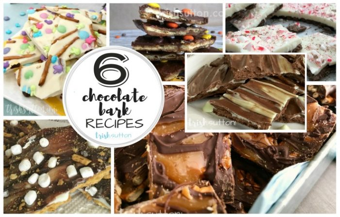 Six simple recipes sure to please weekend crowds! All six of these Chocolate Candy Bark Recipes take just minutes to make.