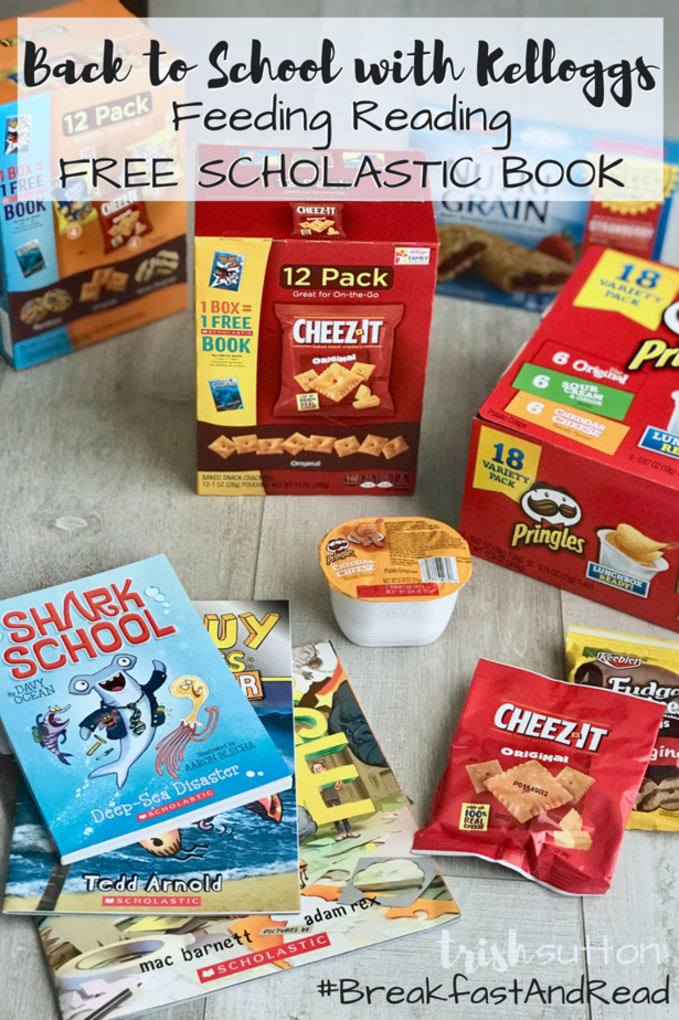 Back to School Feeding Reading   Kellogg's and Scholastic free book program 1 Book = 1 Box promotion ends 09/30/18. (AD) #BreakfastAndRead #ad
