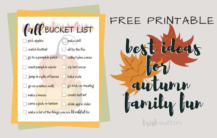 Ultimate Fall Bucket List Printable   Best Ideas for Autumn Family Fun
