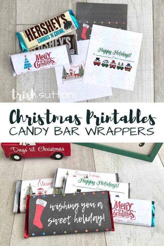 Free Printable Candy Bar Wrappers   Simple Sweet Christmas Gift TrishSutton.com
