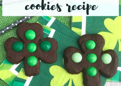 Chocolate Mint Cookies Recipe; TrishSutton.com
