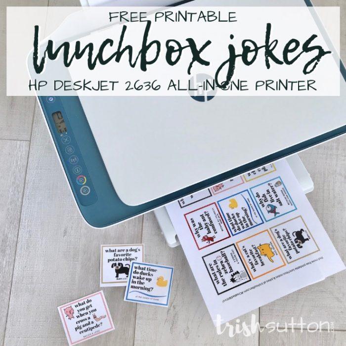 Lunchbox Jokes Free Printable for Kids | Silly Animal Jokes TrishSutton.com #CreatedWithHP #ad