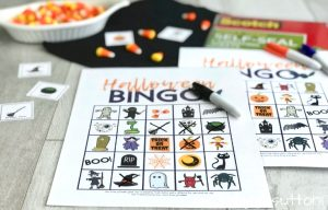 Printable Halloween Bingo Cards with Candy Corn and Dry Erase Markers