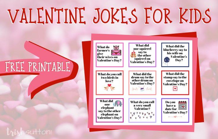 Valentine Jokes for Kids   Free Printable, TrishSutton.com