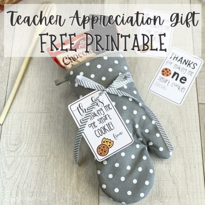Thank a teacher with this sweet and thoughtful Free Printable Teacher Appreciation One Smart Cookie Gift.