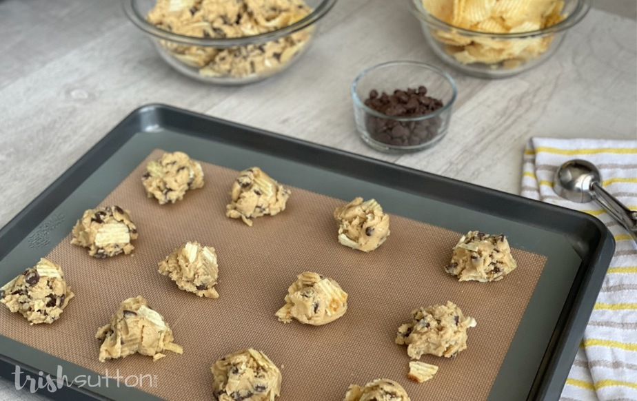 Salty and sweet goodness in the form of a chocolate chip cookie made even better with Ruffles potato chips! This Potato Chips Cookies Recipe is an absolute MUST TRY.