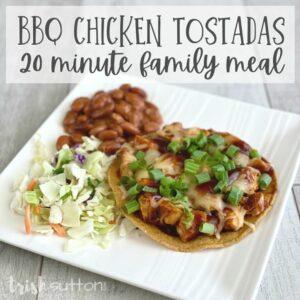 BBQ Chicken Tostadas Recipe | Simple 20 Minute Meal