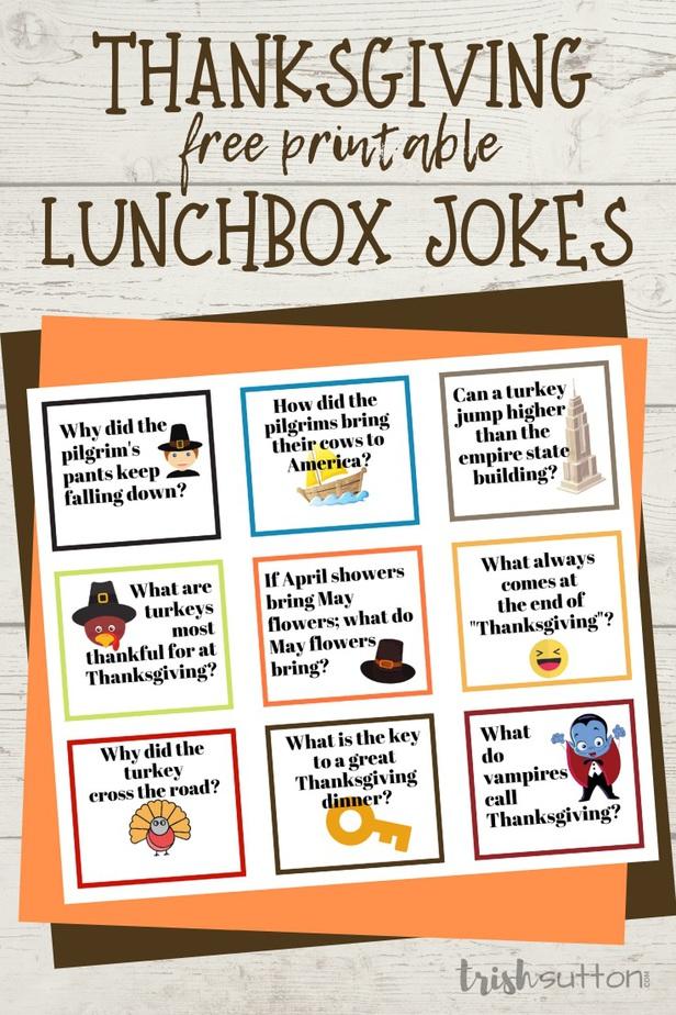 Thanksgiving Jokes   Free Printable